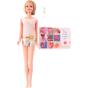 Blonde Casey Doll with Original Swimsuit, Earring and Pamphlet, Mattel Vintage 1967