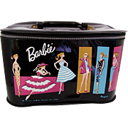 Barbie Train Case, Ponytail, Vintage 1961 Mattel