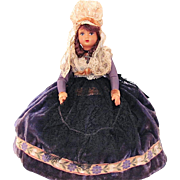 French Celluloid Souvenir Doll Vintage 1940s