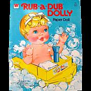 Rub-a-Dub Dolly Paper Doll Uncut Whitman Vintage 1977