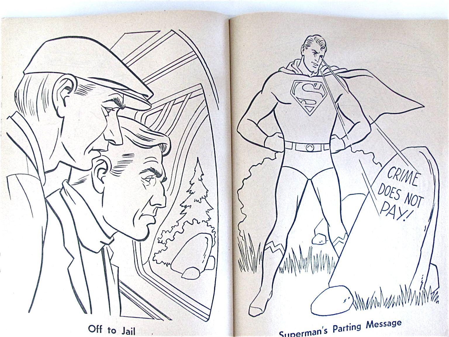 Superman To The Rescue Coloring Book UNUSED Whitman Vintage 1964 ...