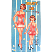 Mommy and Me Paper Dolls Uncut Whitman Vintage 1960