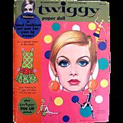 Twiggy Paper Doll, Complete with Plastilon Child-Size Dress, Original Vintage 1967, Whitman