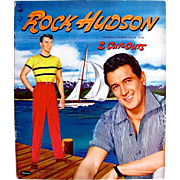 Rock Hudson Paper Dolls, Uncut, Original Vintage 1957, Whitman Movie Star Dolls, Hollywood Costumes