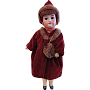 German Bisque Head Doll On Jointed Composition Body, 18 inch, Vintage 1920s-30s