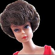 Brunette Bubble Cut Barbie Doll in Original Swimsuit and Heels Mattel Vintage 1964-1967
