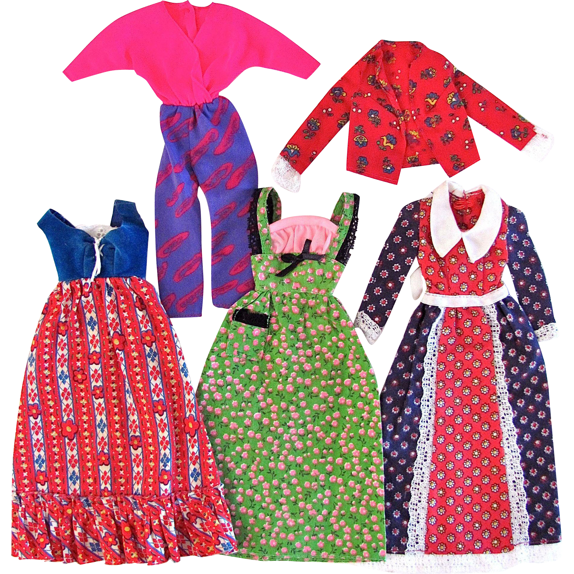 Barbie Best Buy Fashion Assortment – Dresses, Jacket, Top – Vintage 1970s, Plus Additional 1980s Items