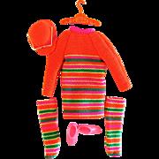 Skipper Doll Clothes Skimmy Stripes Vintage 1968 Mattel Fashion 1956