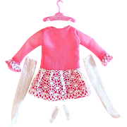 Skipper Dolls Outfit All Prettied Up Complete Vintage 1967 Mattel Fashion 1949