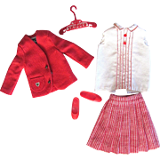 Skipper School Girl, Blazer, Blouse, Jacket, Shoes Vintage 1966 Mattel Fashion 1921