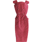 Barbie Fashion Pak Polka-Dot Sheath Dress with Original Hanger Mattel Vintage 1962