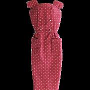 Barbie Fashion Pak Polka-Dot Sheath Dress with Original Hanger Mattel Vintage 1962