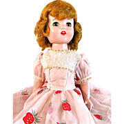 Lu Ann Simms Doll, 18-Inch Hard Plastic Walker, Titian Hair, Vintage 1950s