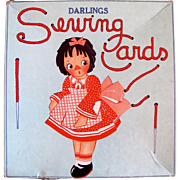 Darlings Sewing Cards in Original Box, Samuel Gabriel, Vintage 1920s