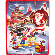Early Disneyland Christmas Frame Tray Puzzle, Whitman Vintage 1957