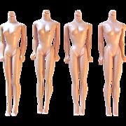 Barbie Doll Bodies, TLC Group of 4, Vintage 1961 to 1964