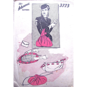 1940s Women's Bag, Vintage Sewing Pattern, Advance 3773 Unused, Hard To Find, Pouch Bag Over-arm Bag Pattern