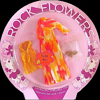 Mattel Rock Flowers Fashion Mint On Card Vintage 1970 Tie Dye Maxi