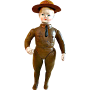Ideal Liberty Boy WWI Soldier Doll with Hat, circa 1915