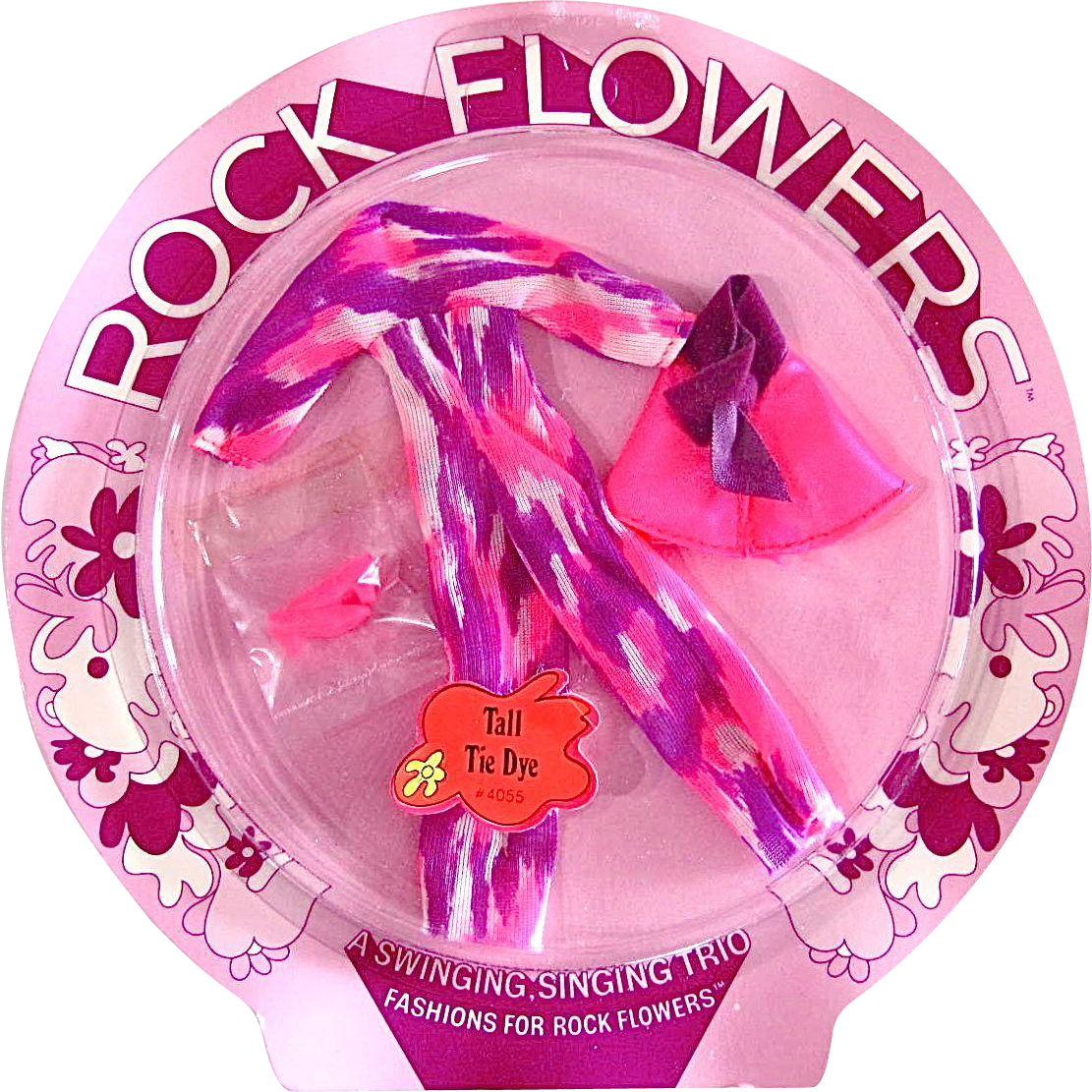 Rock Flowers Fashion, Tall Tie Dye, Mint On Card, Mattel Vintage 1970