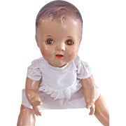 Chubby Composition Baby Doll, Unmarked, Vintage 1940s