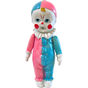 All Bisque Clown Doll, Made In Japan, Vintage Googlie-Eyed Kewpie Type, Jointed Arms, 6.5-Inch Doll
