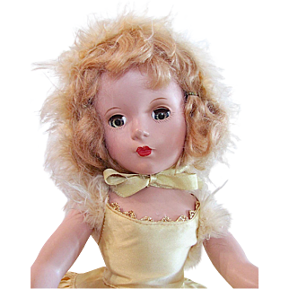 Madame Alexander Babs Skating Doll, 14 Inch Hard Plastic, Tagged Outfit, Vintage 1950s