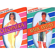 Cleopatra and Mark Antony Movie Paper Dolls, Elizabeth Taylor and Richard Burton, 2 Boxed Sets Complete, NRFB, Original Vintage 1963, Blaise Fun Toys
