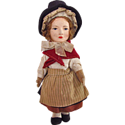 English Cloth Doll in Costume of Wales Vintage 1930s