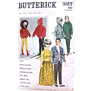 Butterick 3317 Barbie and Ken Dolls Wardrobe Pattern Complete Vintage 1960s