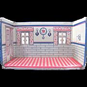 Marx Newlywed Kitchen, Tin Litho Room Box, Vintage 1920s