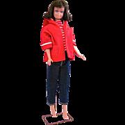 Midge Doll, Brunette Straight Leg Midge, Vintage 1960s