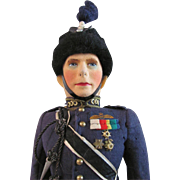 Farnell Alpha Toys King George VI Doll In Royal Air Force Uniform All Original With Label, Circa 1930s