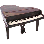 Renwal Baby Grand Piano, Hard Plastic Dollhouse Furniture, Vintage 1950's, ¾ Inch to 1 Inch Scale