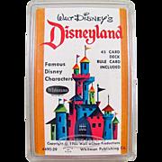 Walt Disney's Disneyland Card Game In Original Box Whitman Dated 1964