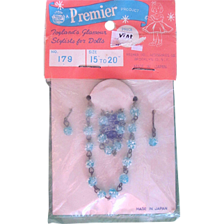 Doll Necklace, Bracelet and Earrings, Premier Doll Jewelry, Fits 15 to 20 Inch Dolls, MIP
