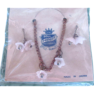 Doll Necklace and Earrings, Premier Doll Jewelry, Fits 8 to 11 Inch Dolls, MIP
