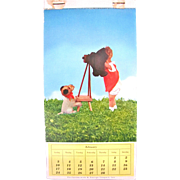Kathe Kruse Doll Photo Post Card Calendar, 11 Color Photograph Post Cards, February thru December, H. George Caspari, Vintage 1950s