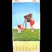 Kathe Kruse Doll Photo Post Card Calendar, 11 Color Photograph Post Cards, February thru December, H. George Caspari, Vintage 1950s