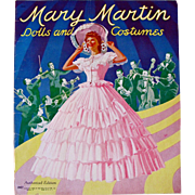 Mary Martin Paper Dolls, Uncut, Original Vintage 1942, Saalfield Movie Star Dolls and Costumes