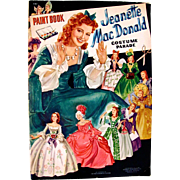 Jeanette MacDonald Paint Book Paper Dolls Costume Parade, Uncut and Uncolored, Original Vintage 1941, Merrill MGM Movie Star Doll and Costumes