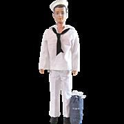 Brunette Ken Doll Wearing Complete  Sailor Fashion #796, Mattel Vintage 1963