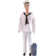 Brunette Ken Doll Wearing Complete  Sailor Fashion #796, Mattel Vintage 1963