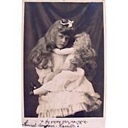 French Real Photo Postcard, Little Girl Comforting Her Doll, Postmarked 1905