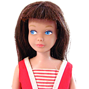 Skipper Doll, Brunette Straight Leg Skipper In Original Swimsuit and Flats, Vintage 1964
