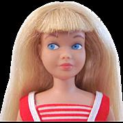 Skipper Doll, Blonde Straight Leg Skipper, Original Swimsuit, Flats and Stand, Vintage 1964
