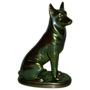 Zsolnay Porcelain - Hungary - German Shepherd Dog