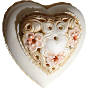 """Cybis Porcelain """"Thinking of You"""" Signed Heart Box"""