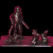 Antique European Miniature Silver Multi-Figural Sculpture