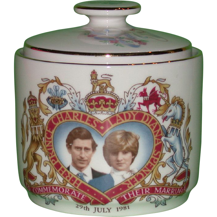 Royal Doulton Commemorative Lidded Jar honoring Charles and Diana's Wedding, 1981